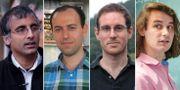 Akshay Venkatesh, Caucher Birkar, Alessio Figalli och Peter Scholze.