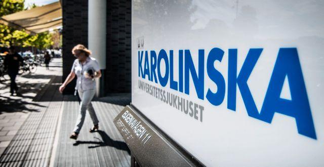 Karolinska Universitetssjukhuset. Arkivfoto. Tomas Oneborg/SvD/TT / TT NYHETSBYRÅN