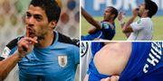 Luis Suárez nu – och då. TT
