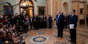 Donald Trump och Steven Mnuchin.  J. Scott Applewhite / TT NYHETSBYRÅN