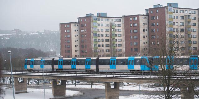 Vy över stockholmsförorten Fittja. Fredrik Sandberg/TT / TT NYHETSBYRÅN
