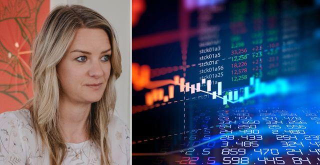 Danske Banks sparekonom och seniora strateg Maria Landeborn. Arkivbilder. TT/Shutterstock