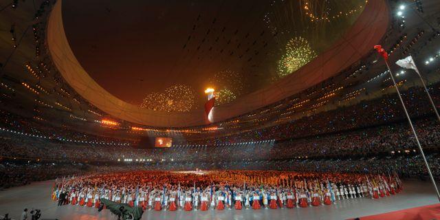Arkivbild. OS-invigningen i Peking år 2008.  Fredrik Sandberg / TT / TT NYHETSBYRÅN