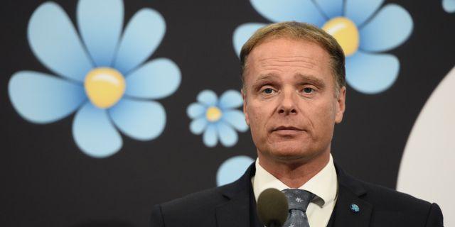 Stefan Jakobsson vid dagens presskonferens. Pontus Lundahl/TT / TT NYHETSBYRÅN