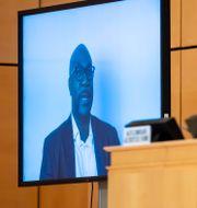 Philonise Floyd talar inför FN:s människorättsråd. Martial Trezzini / TT NYHETSBYRÅN