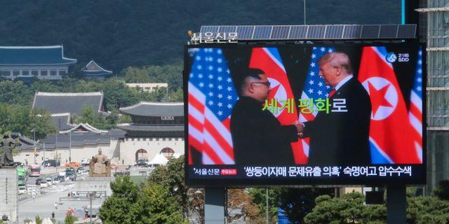Bild från Seoul i Sydkorea.  Ahn Young-joon / TT NYHETSBYRÅN/ NTB Scanpix