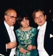 Lisbeth och Olof Palme, här tillsammans med riksdagens talman Ingemund Bengtsson. SvP/TT / TT NYHETSBYRÅN