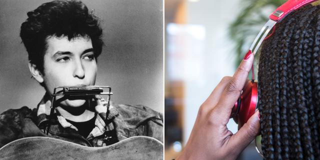 Bob Dylan år 1963/kvinna som lyssnar på musik. TT