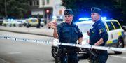 Polis på brottsplatsen efter en av de många gängskjutningarna i Malmö. Johan Nilsson/TT / TT NYHETSBYRÅN
