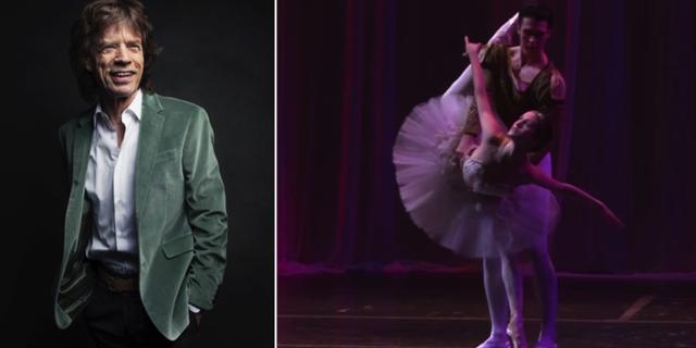 Jagger, dansarna Melanie Hamrick och Thomas Forster, 2014. TT/American Ballet Theatre, Youtube