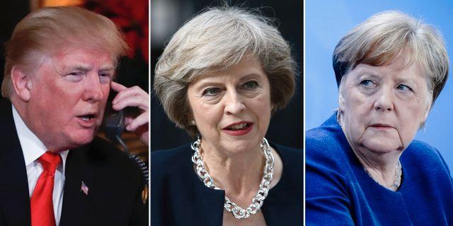Donald Trump/Theresa May/Angela Merkel TT