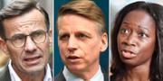 Ulf Kristersson (M) / Per Bolund (MP) / Nyamko Sabuni (L) TT