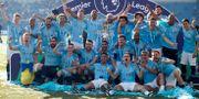 Manchester City firar helgens Premier League-triumf. JOHN SIBLEY / BILDBYRÅN