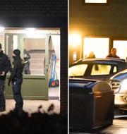 Bilder från polisinsatsen i förra veckan.  TT