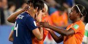 Saki Kumagai gråter efter matchen- LUCY NICHOLSON / BILDBYRÅN