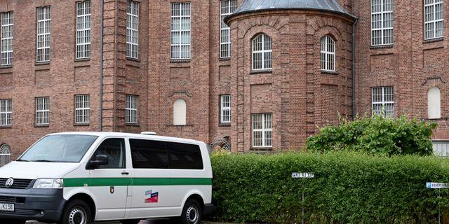 Fängelset i Kiel där den misstänkte mannen avtjänar ett sjuårigt fängelsestraff.  Carsten Rehder / TT NYHETSBYRÅN