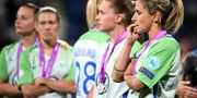 Besvikna Wolfsburgsspelare. FRANCK FIFE / AFP