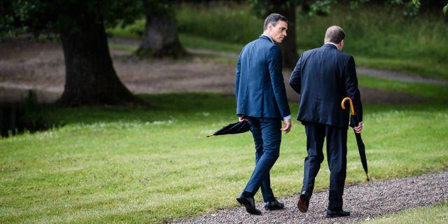 Statsminister Stefan Löfven tog igår emot Spaniens premiärminister Pedro Sánchez på Harpsund Erik Simander/TT / TT NYHETSBYRÅN
