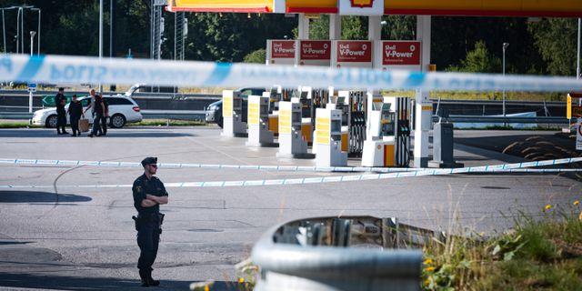 En 12-årig flicka sköts till döds natten till söndag. Naina Helén Jåma/TT / TT NYHETSBYRÅN