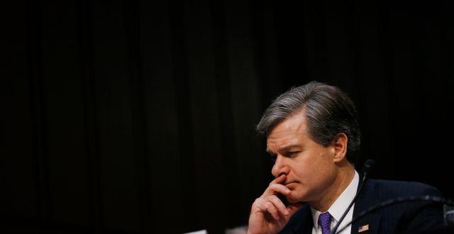 FBI-chefen Chris Wray i senaten i veckan. Leah Millis / TT NYHETSBYRÅN