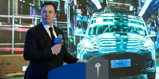Teslas vd Elon Musk.  TT NYHETSBYRÅN