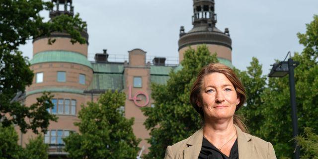 LO:s ordförande Susanna Gideonsson Sören Andersson