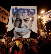 Demonstranter i Jerusalem. Sebastian Scheiner / TT NYHETSBYRÅN