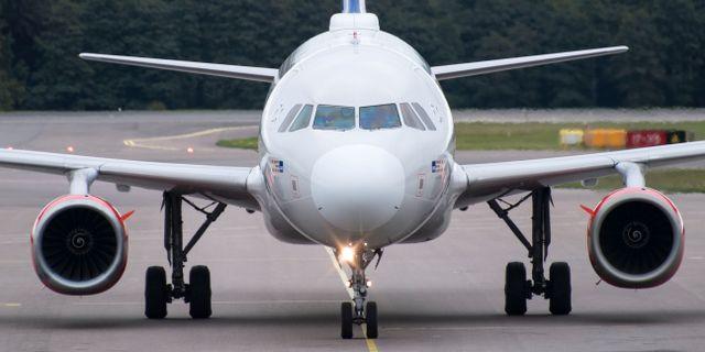 En Airbus 320-200 tillhörande SAS. Johan Nilsson/TT / TT NYHETSBYRÅN