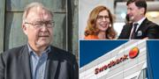 Göran Persson. Swedbanks tidigare vd Birgitte Bonnesen och ordförande Lars Idermark.  TT