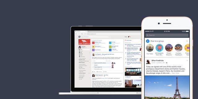 Facebooks Workplace växer så det knakar.  Facebook