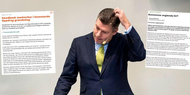 Johan Torgeby, vd för SEB.  Anders Wiklund/TT / TT NYHETSBYR≈N