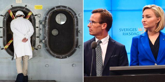 Barsebäcks kärnkraftverk/Ulf Kristersson och Ebba Busch Thor. TT