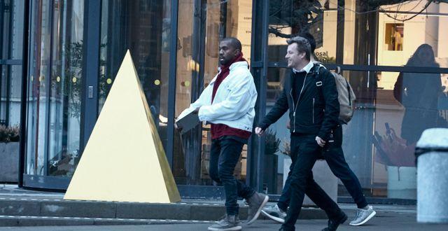 Kanye West i Älmhult. Hans Runesson/TT / TT NYHETSBYRÅN