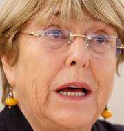 Michelle Bachelet/Protester i USA. TT