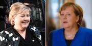 Norges statsminister Erna Solberg och förbundskansler Erna Solberg.  TT