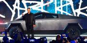 Grundaren Elon Musk vid presentationen den 22 november 2019. FREDERIC J. BROWN / AFP