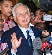 Arkivbild: Malaysias före detta premiärminister Najib Razak befanns i juli 2020 skyldig till korruption och till att ha länsat 1MDB på flera miljarder dollar.  Yam G-Jun / TT NYHETSBYRÅN