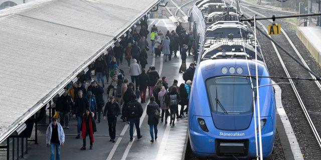 Pågåtåg vid Lunds station. Arkivbild. Johan Nilsson/TT / TT NYHETSBYRÅN