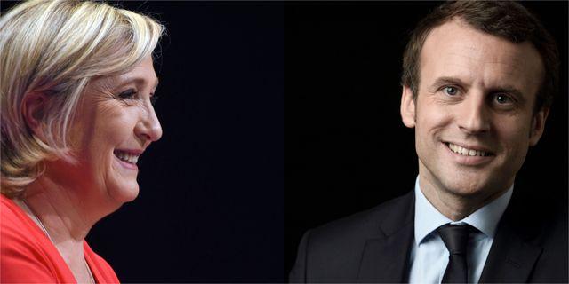 Marine LePen, Emmanuel Macron TT / Montage