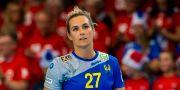Sabina Jacobsen i den svenska landslagströkjan. FREDRIK VARFJELL / BILDBYRÅN