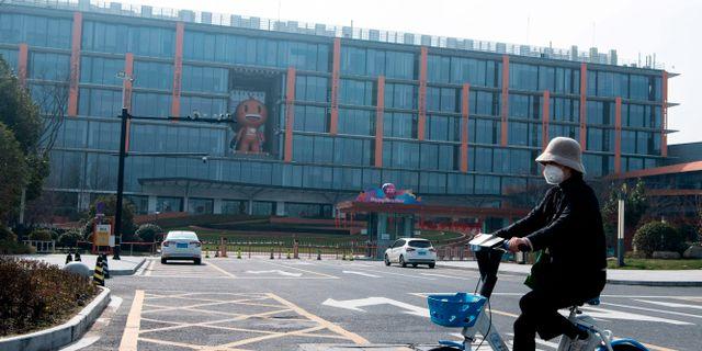 Alibabas huvudkontor utanför Shanghai. NOEL CELIS / AFP