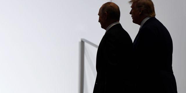 Trump har sagt sig vilja medla mellan Ryssland och Saudiarabien. På bild Vladimir Putin och Donald Trump.  Susan Walsh / TT NYHETSBYRÅN
