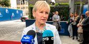 Margot Wallström på väg in till dagens utrikesministermöte. Wiktor Nummelin/TT / TT NYHETSBYRÅN