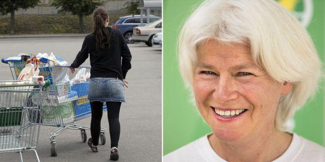 En kvinna storhandlar/Karin Svensson Smith.  TT