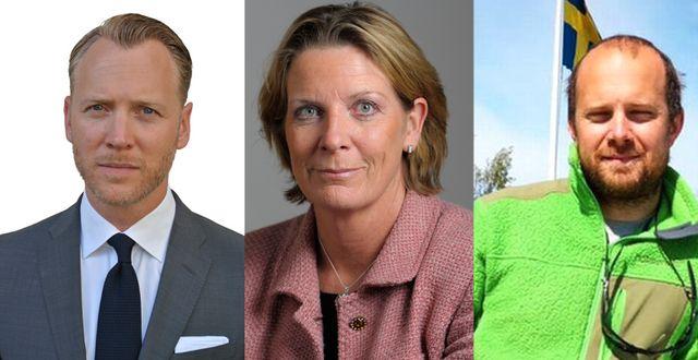 Christian Ekström, Skattebetalarna, Helena Bouveng (M), riksdagsledamot och Michael Vinell, Finnhamns Arkipelag AB. Skattebetalarna, TT, privat