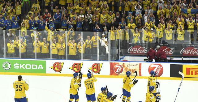 Tre kronor under ishockey-vm 2019. Claudio Bresciani/TT / TT NYHETSBYRÅN