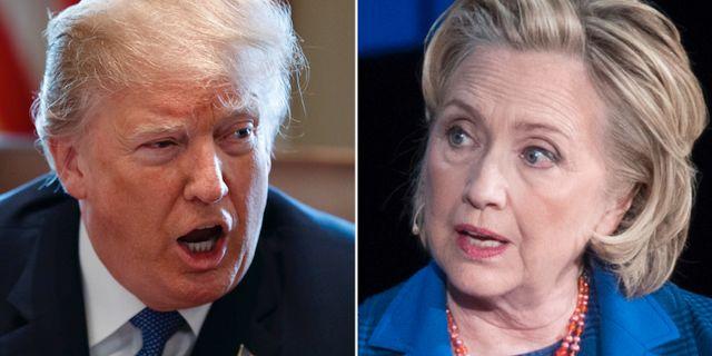 Donald Trump och Hillary Clinton.  TT