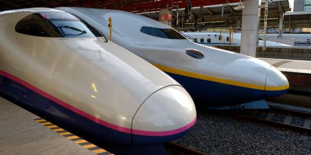 Höghastighetståget Shinkansen. JANERIK HENRIKSSON / TT / TT NYHETSBYRÅN