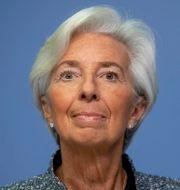 Christine Lagarde, chef på Europeiska centralbanken, ECB.  Michael Probst / TT NYHETSBYRÅN