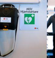 Defibrillator. JANERIK HENRIKSSON / TT / TT NYHETSBYRÅN
